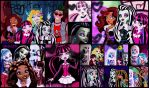 Dark style collage Monster High by DarkRoseDiamond123