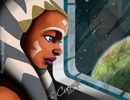 Ahsoka Pretty Sad Face by Cuervex