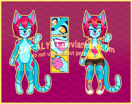 ADOPT: SUMMER KITTY - OPEN by CAT-ALYST