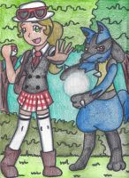 Lucario and Myself in the Pokemon World by still-a-fan