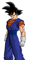 Goku in Vegetto Clothes by RobertoVile