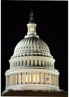 US Capitol Dome At Night by KKNBC