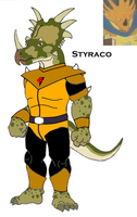 Tyranno: Styraco by HewyToonmore