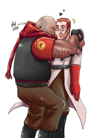 TF2 OC Medic and Heavy LOVE by seueneneye