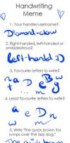 Handwriting meme :so ugly ): by Snowstorm-wolf