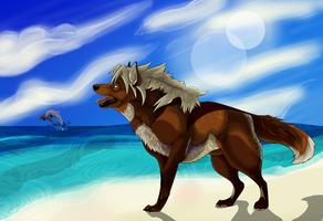 .:Art Trade: The Ocean~ by WolfSoulKeeper