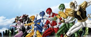 MMPR with Zords by Gourmandhast