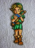 Link- Ocarina of Time - Perler beads by Poisonable