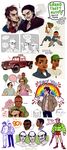 grand sketch dump of grand theft auto 5 by felloliette