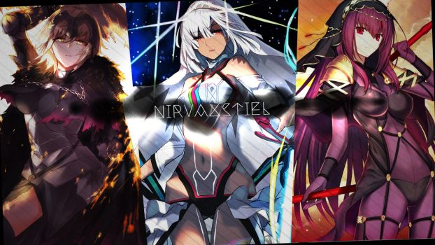 Simple WP - Jeanne Alter, Attila, Scathach by Nirvaxstiel