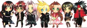 Final Fantast 7 Chibis by fluffys-inu