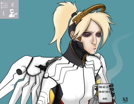 Expression Challenge SNORE - Mercy 1E by ConstantScribbles