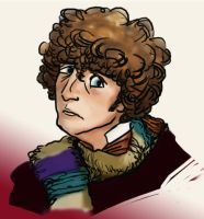 Pensive Fourth Doctor by infiniteviking