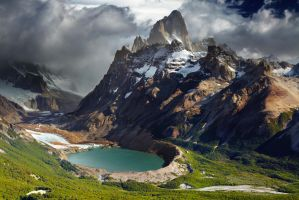 Monte Fitz Roy, Patagonia border between Argentina by iTwisty