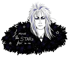 Jareth Sticker by Anolee