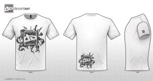 Tendrils T-Shirt Design by Nara-kun