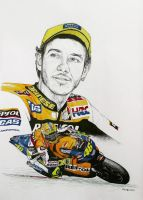 Valentino Rossi Tribute by machoart