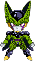 perfect cell chibi by maffo1989