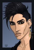 Bill Kaulitz Cartoonized by Chrystall-Bawll