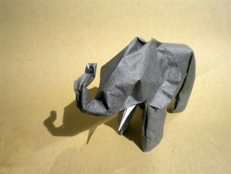 African Elephant - Origami by mitanei