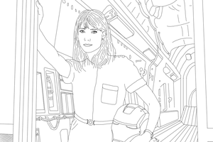 Pepper Potts Linework WIP by DoranBladefist