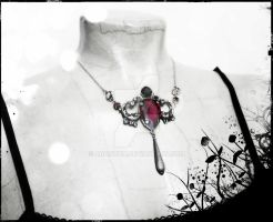 Ruby Red Swarovski Necklace 1 by Aranwen