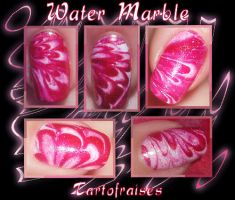 water marbled nails 2 by Tartofraises
