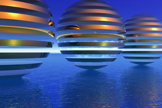 Spheres on Vacation by lyle58