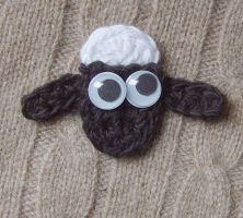 Crochet Shaun the Sheep by meekssandygirl