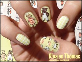 Nina en Thomas nails by JawsOfKita-LoveHim