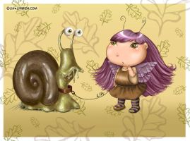 Fairy and her snail by LiaSelina