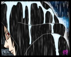 Madara in the rain by TheDemonLady