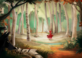 The little red riding hood by banana-fox