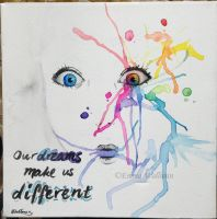 Our Dreams Make Us Different by bluechameleon7