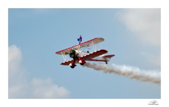 Wingwalker - Southport Air Show by Paul-Madden