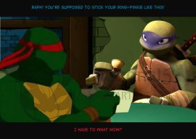 TMNT Tea Partners by Dragona15
