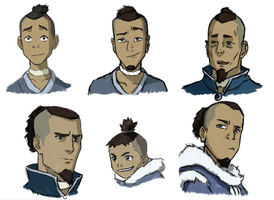 Sokka, at various ages by themathemusician