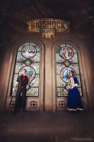 Booker DeWitt and Elizabeth - BioShock Infinite by frosel