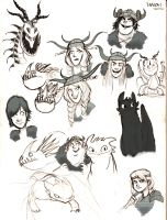 HTTYD sketches by GrievousGeneral