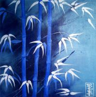 Blue Bamboo by Qi-Li