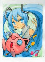 Crossover Vocaloid and pokemon by Charln