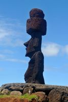 Moai profile 1 - Easter Island by wildplaces