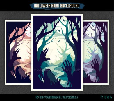 Halloween Night Background #2 by olgameola