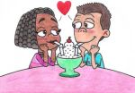 Sheen and Libby Sharing a Sundae by nintendomaximus