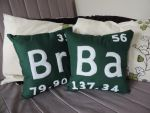 Breaking Bad Element Pillows by JackieBelonzo