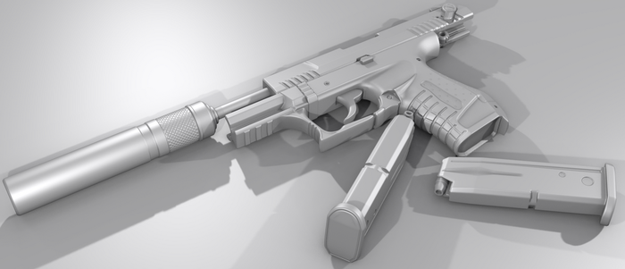 P22 Based High Poly Pistol by s620ex1