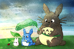 Paint-along 4# Totoro by kr1st1naa