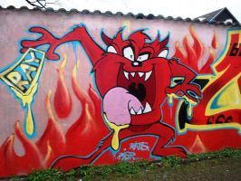 Taz grafitti by Squirtlelover