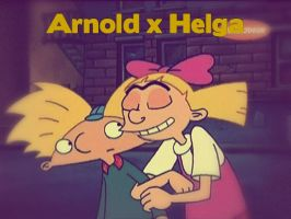 Arnold x Helga by starwriterforthewinn