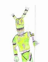 Final Nightmare: Tormented Spring-Tim (Springtrap) by Jonathan1122